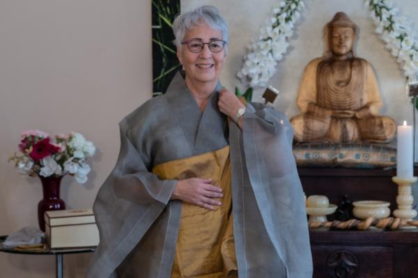 Transmission Ceremony: Hyon Ja SSN<br /> Kwan um Zen School Europe/Zen Centre Vienna<br /> Zen Centre Vienna, Sept 26, 2020